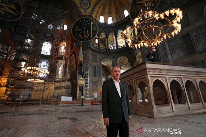 Usai Hagia Sophia, Erdogan Ubah Gereja Chora Turki Jadi Masjid